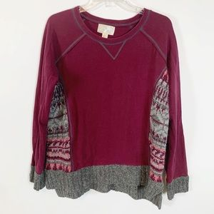 Ruby Moon Maroon Colored Sweater Size Large